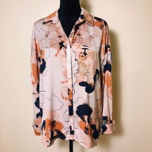 Authentic R O & D E Floral Print Blouse